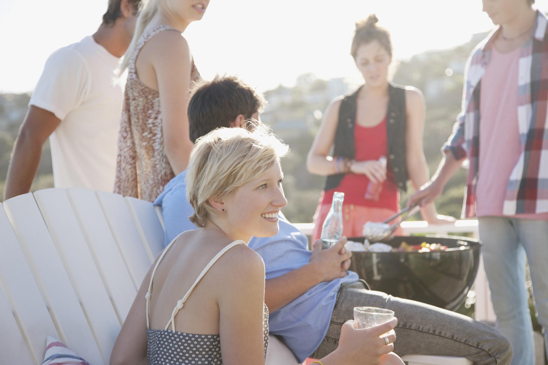 friends enjoying babecue