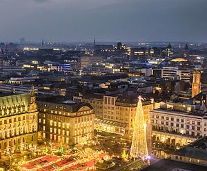 Weihnachtsmarkt Hamburg am Rathausplatz