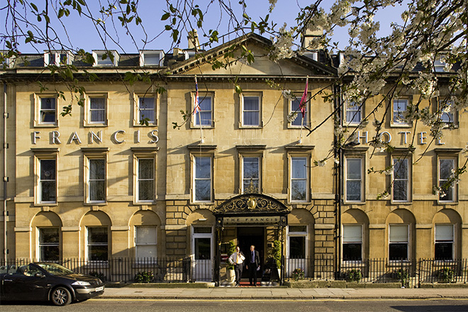 Baroque style of the 20th century in the Francis Hotel in Bath