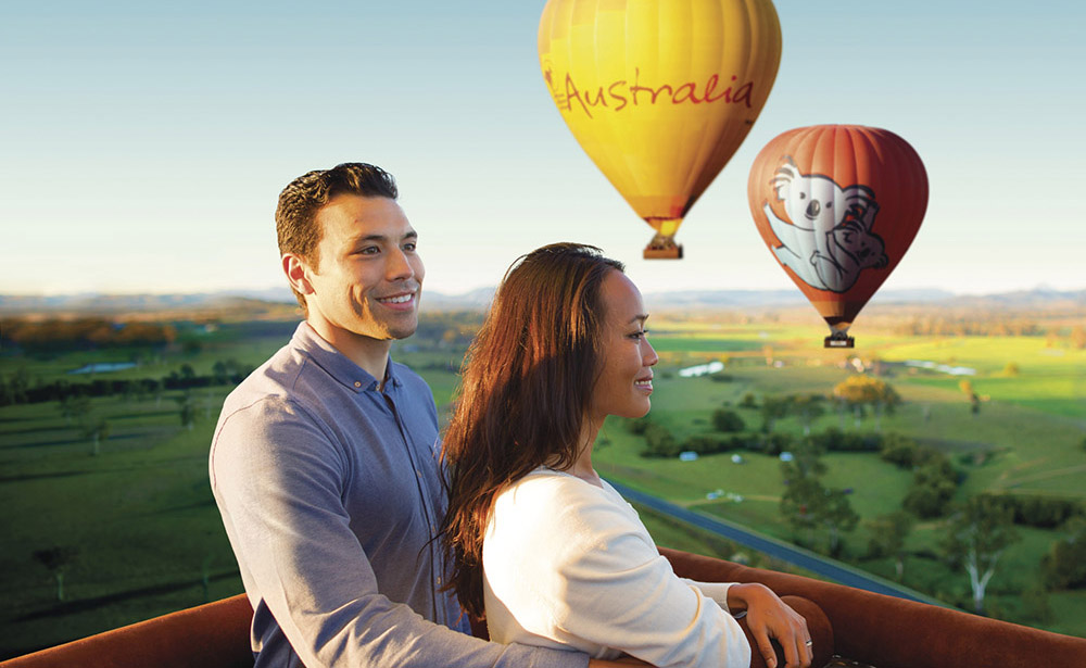 hot air ballooning tourism australia
