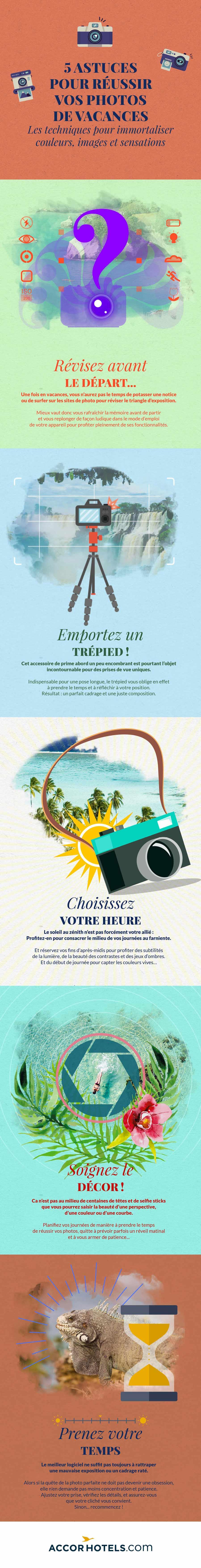 Infographie réussir ses photos de voyage