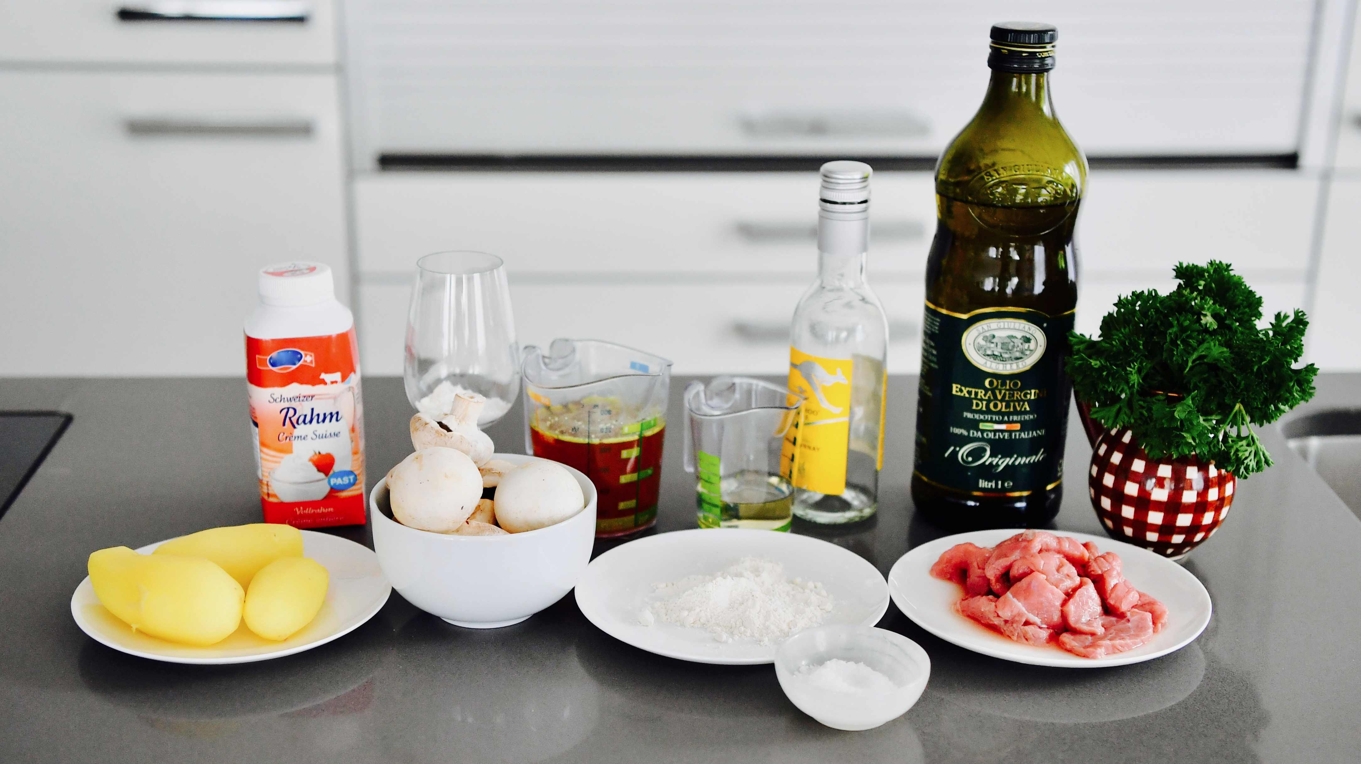 ingredientes ternera al estilo de zurich