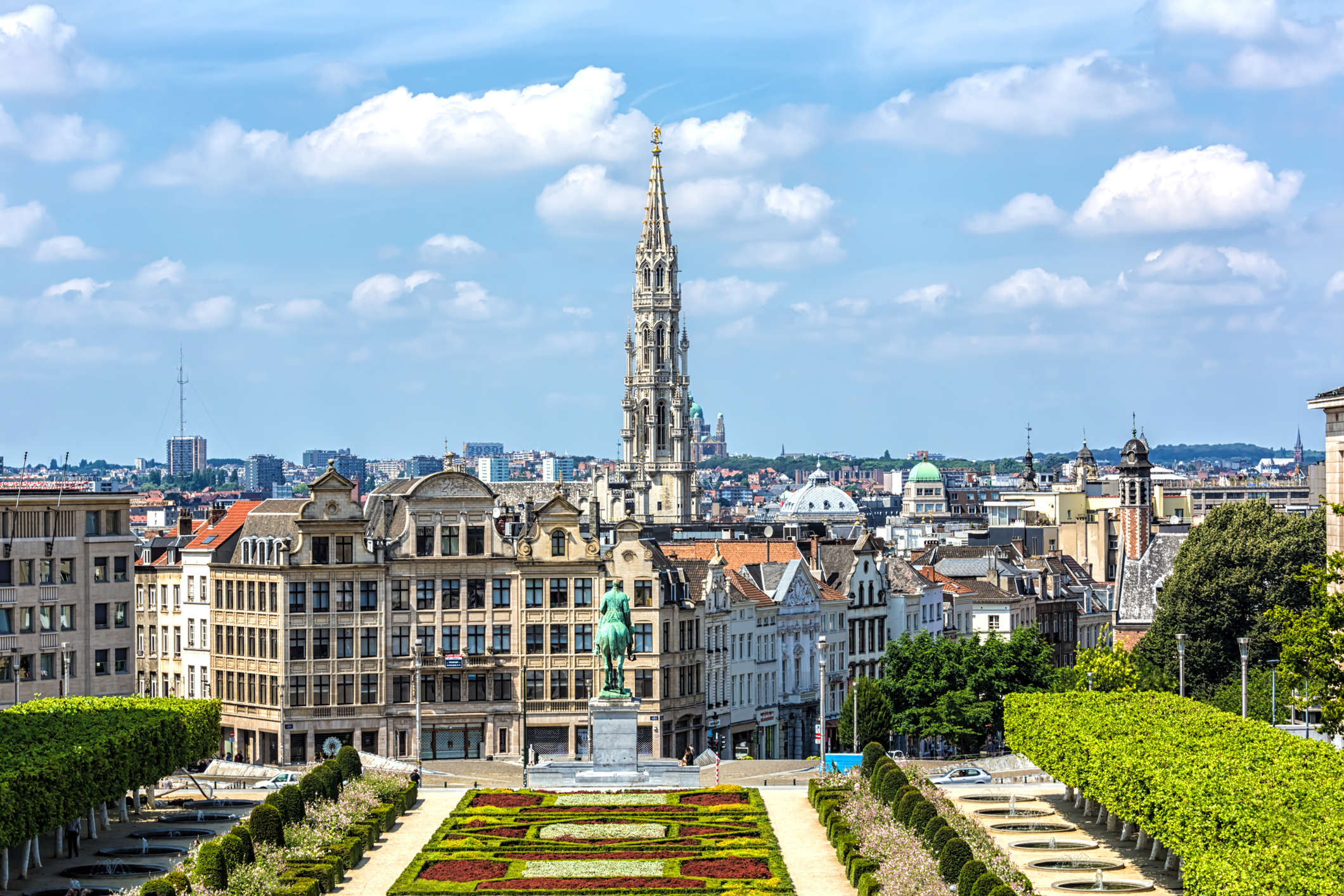 A peaceful view of Brussels