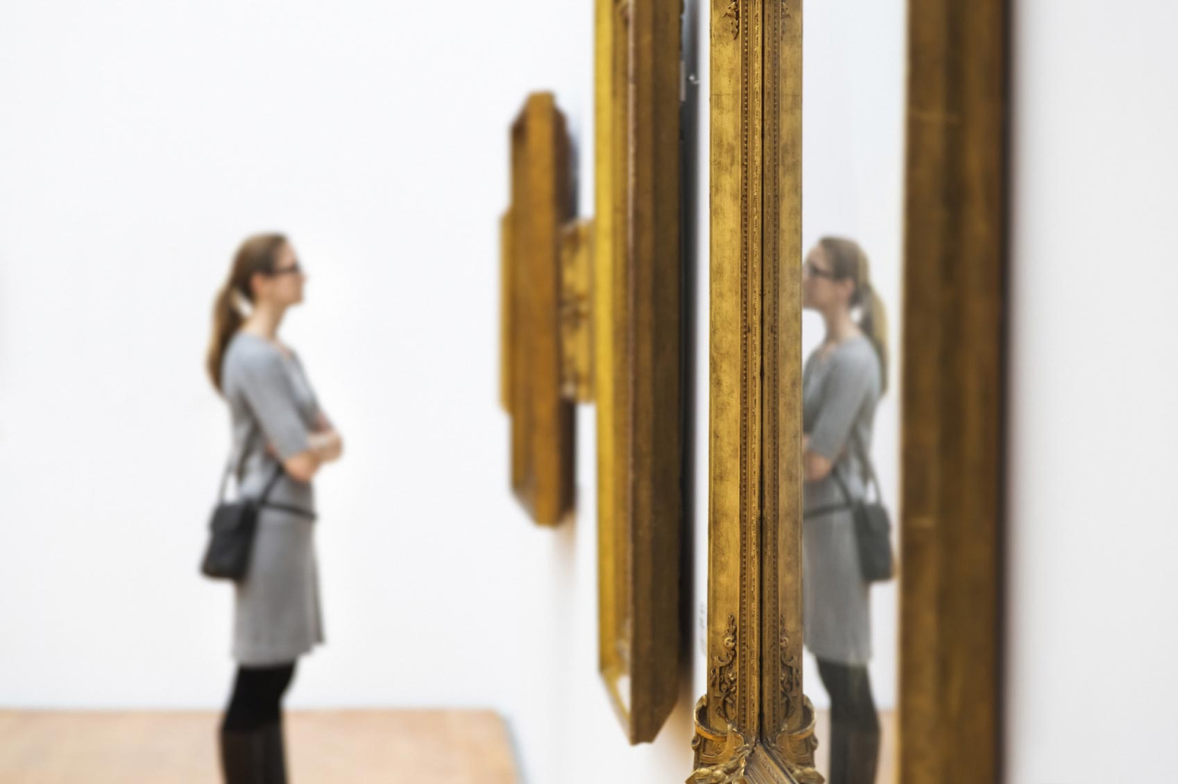 Visiting a peaceful museum or gallery