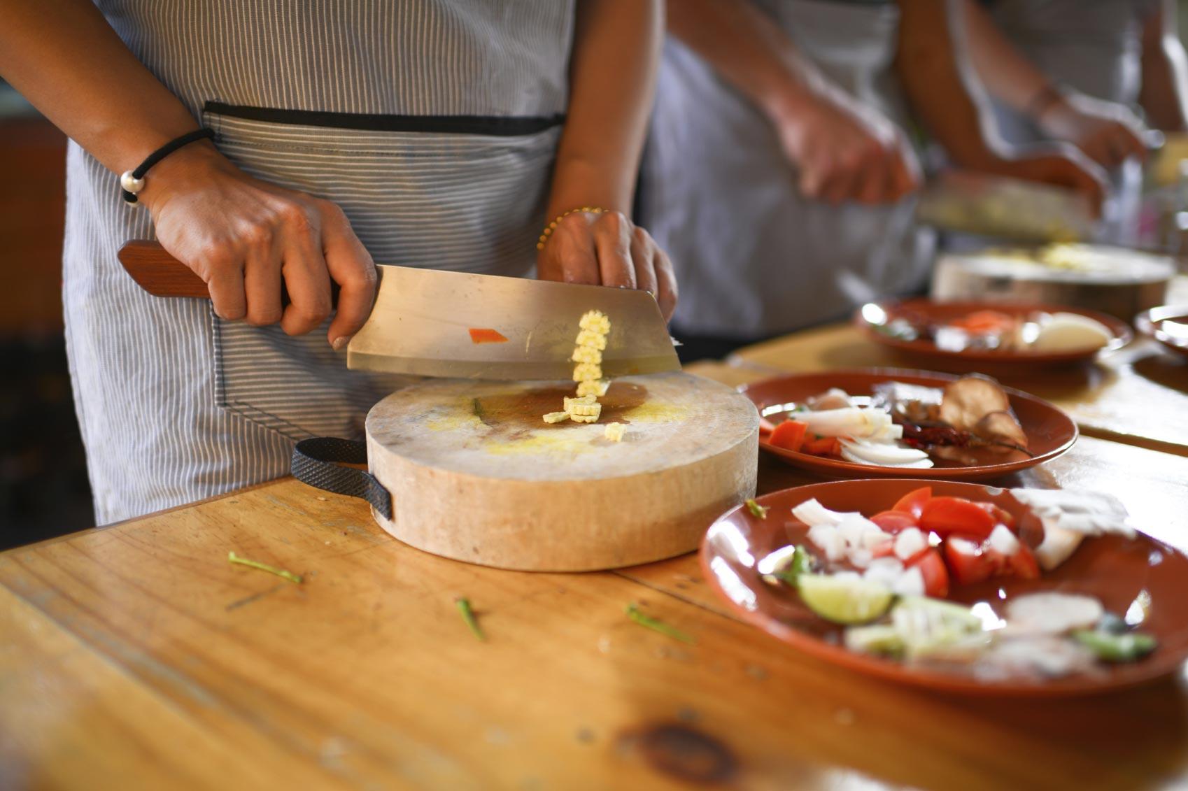 Prendre un cours de cuisine