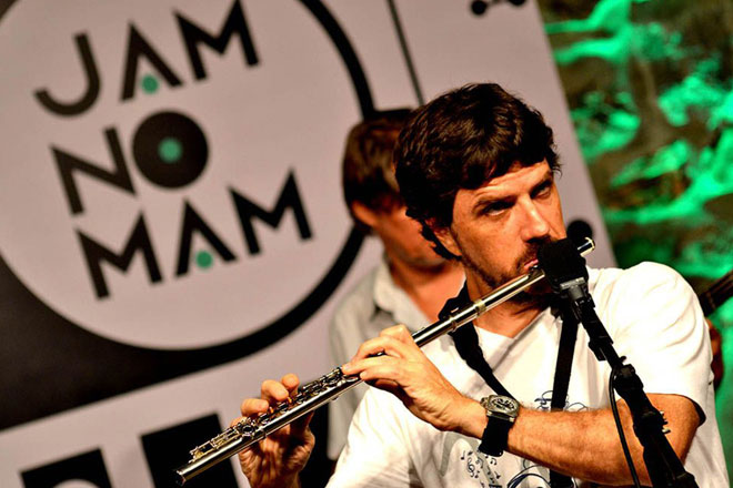 Performance na Jam no MAM (Foto: Ligia Rizerio)