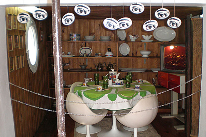 Sala de jantar de Pablo Neruda em La Chascona