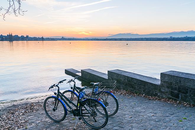 vélos lac de zurich