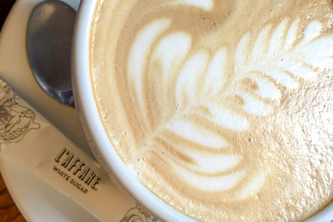 The Perfect Flat-White At L'affare