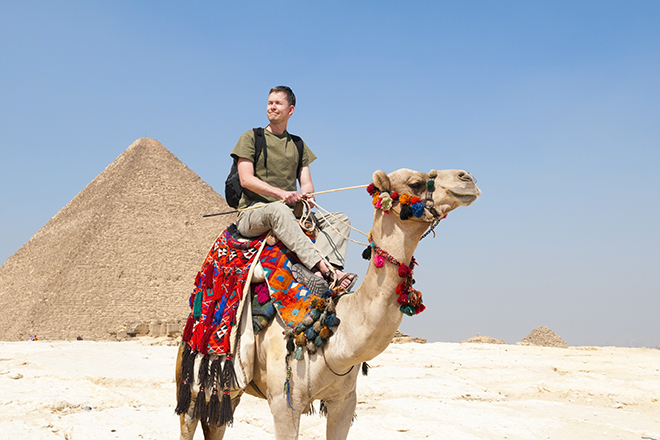 Balade à dos de chameau en Egypte