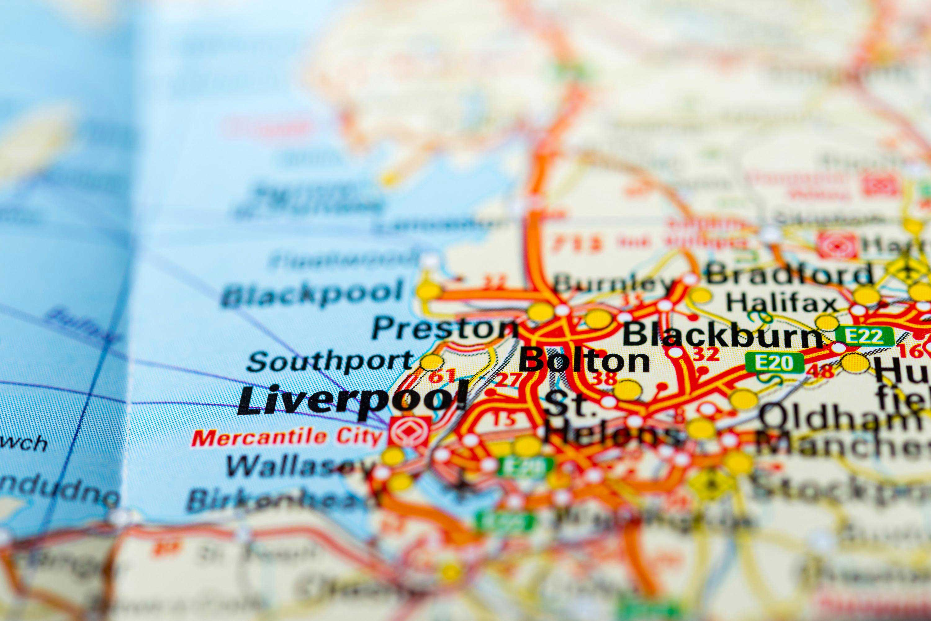 Map of liverpool