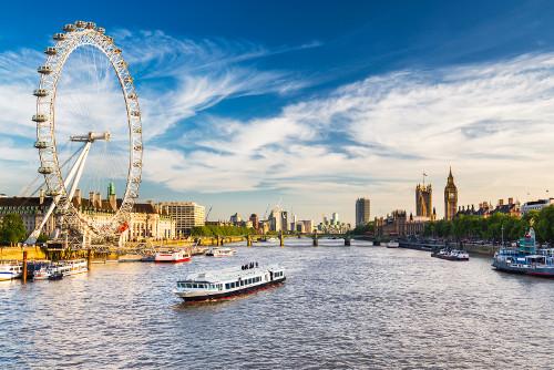 Bootsfahrt während des Kurzurlaubs in London