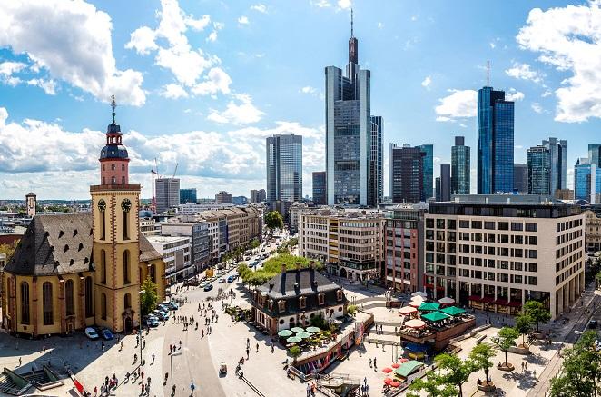 Der Main Tower in Frankfurt