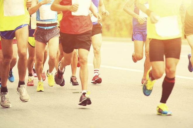 Pessoas correndo na Maratona de São Silvestre