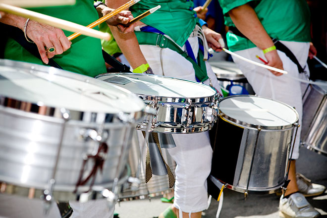 Bateria de uma escola de samba