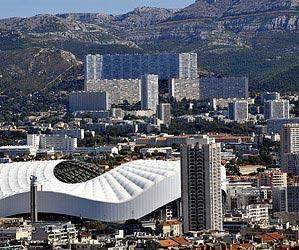 Marseille autour d'un jour de  foot
