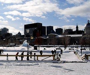 Den weihnachtsmann treffen in Montreal