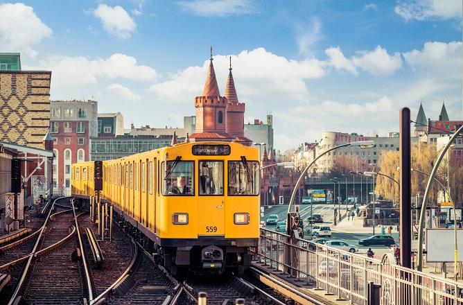 Mit der Bahn in Berlin unterwegs