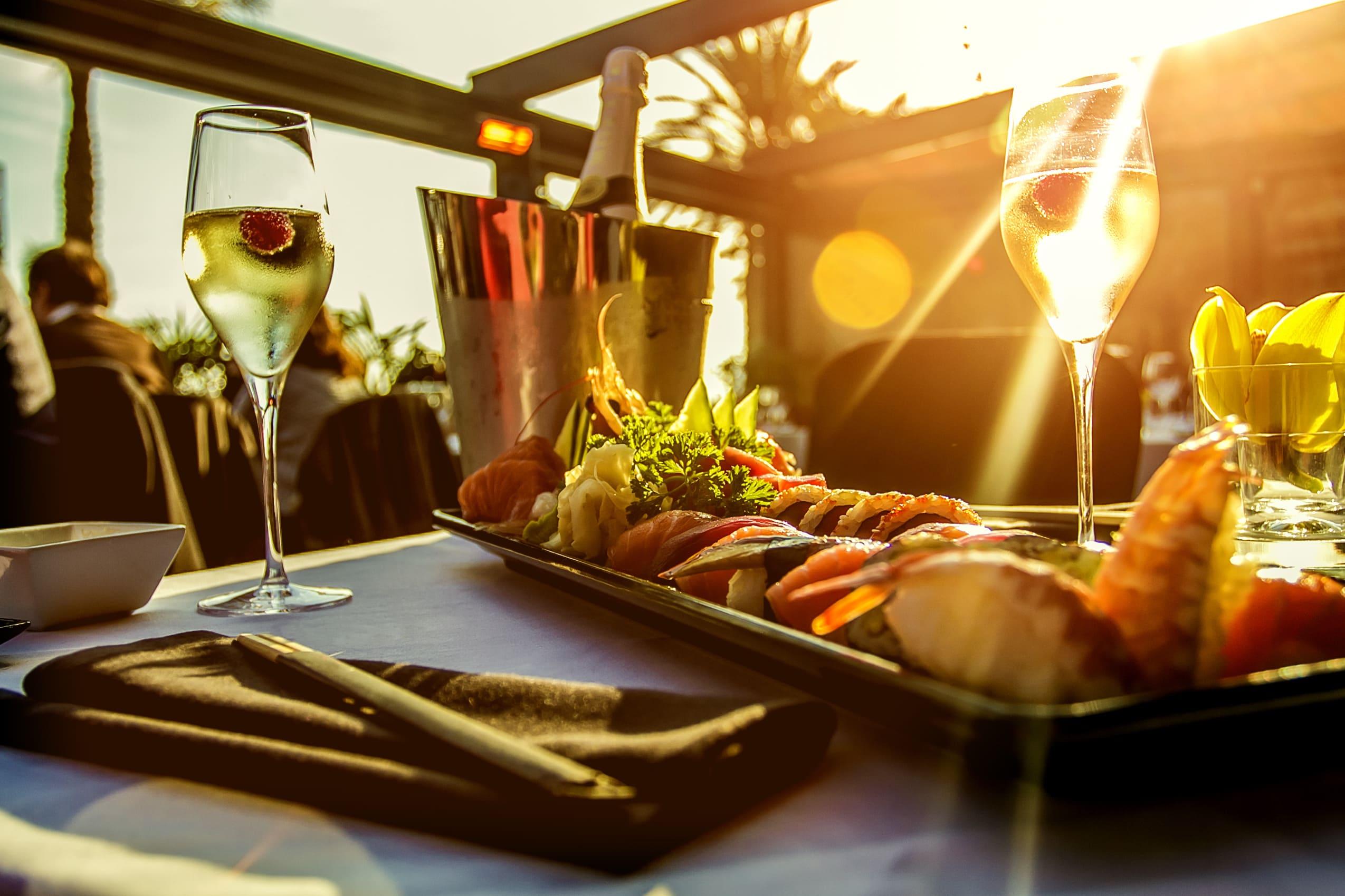 Table de restaurant de luxe