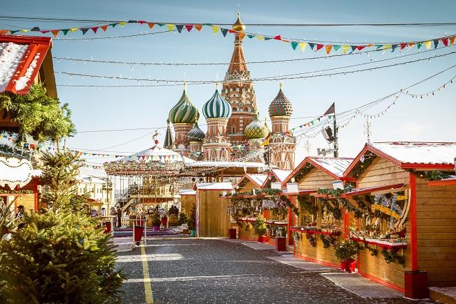 Mercatino di Natale nella Piazza Rossa