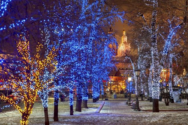Luci di Natale a Mosca
