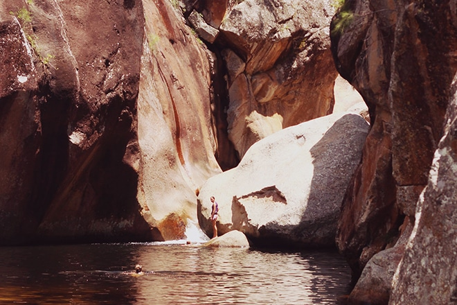 Hidden waterhole in Mount Barney, Queensland