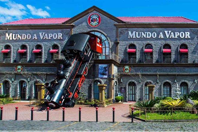 locomotivas parque tematico mundo vapor