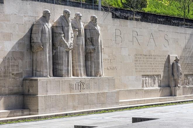 il muro dei riformatori a ginevra