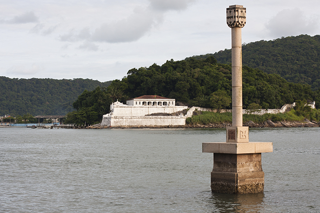 Vista do Museu a partir da Praia de Santos