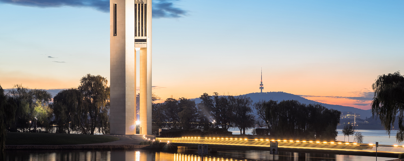 Exploring Canberra by night