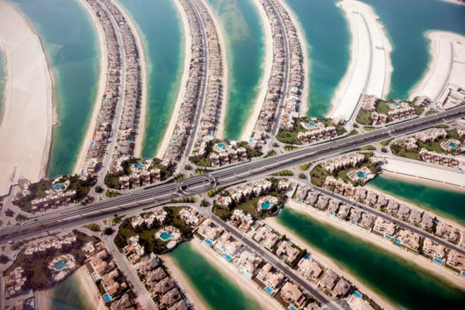 La gran Palmera de Dubái