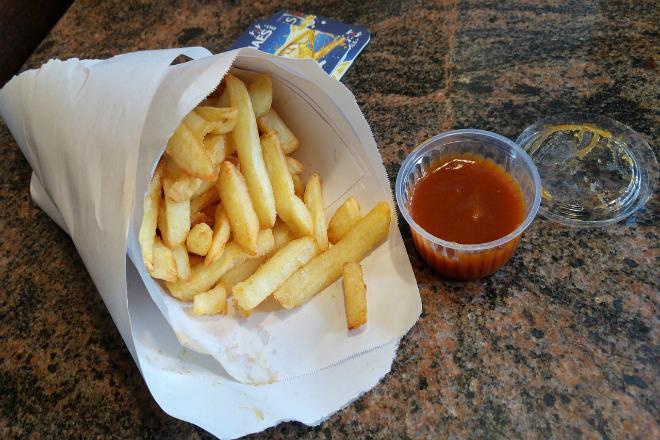 Delicious Belgian pommes frites