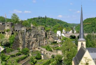 Een deel van Luxemburgs sterke vestingmuren