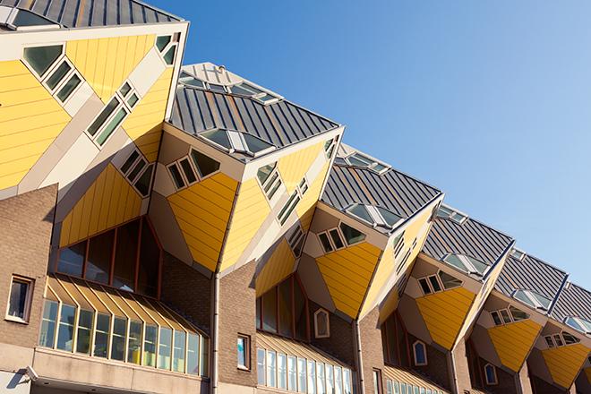Les maisons cubes de Piet Blom