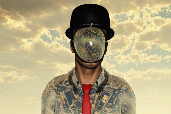 One of René Magritte's surrealistic pieces