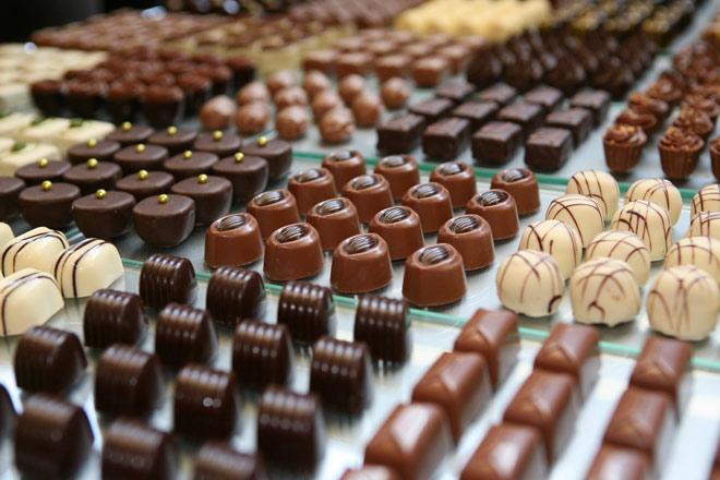 Chocolatiers in de stad