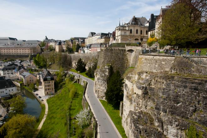 De oude stad Luxemburg is een groot fort