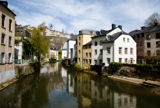 Everywhere you go, you see the Alzette river