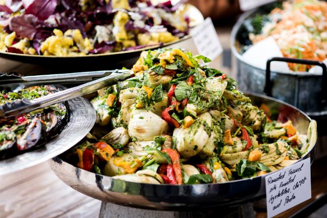 Kunst & vegatarische lunch bij Green Art Café