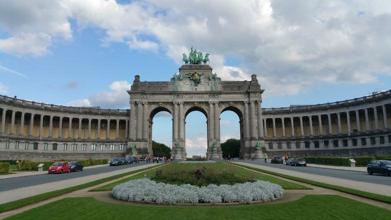 De prachtige architectuur in het Jubelpark