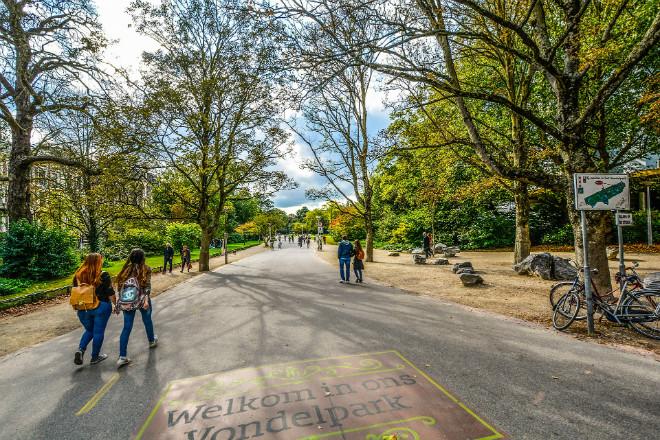 The vibrant and very green Vondelpark