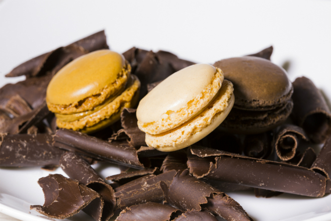 Chocolate and macarons all over the city