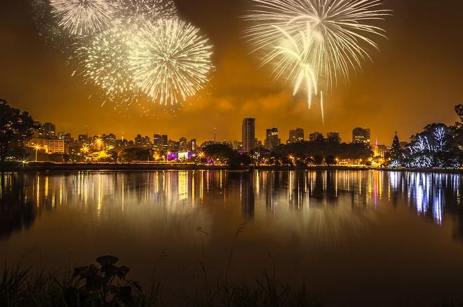 Fogos de artifício no Parque do Ibirapuera