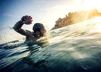 Einen Tag im Wasser verbringen