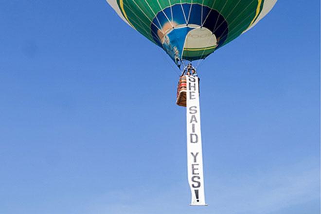 Faixa em balão