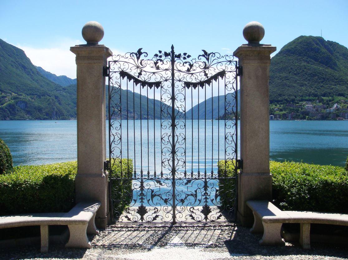 beautiful buildings Lugano