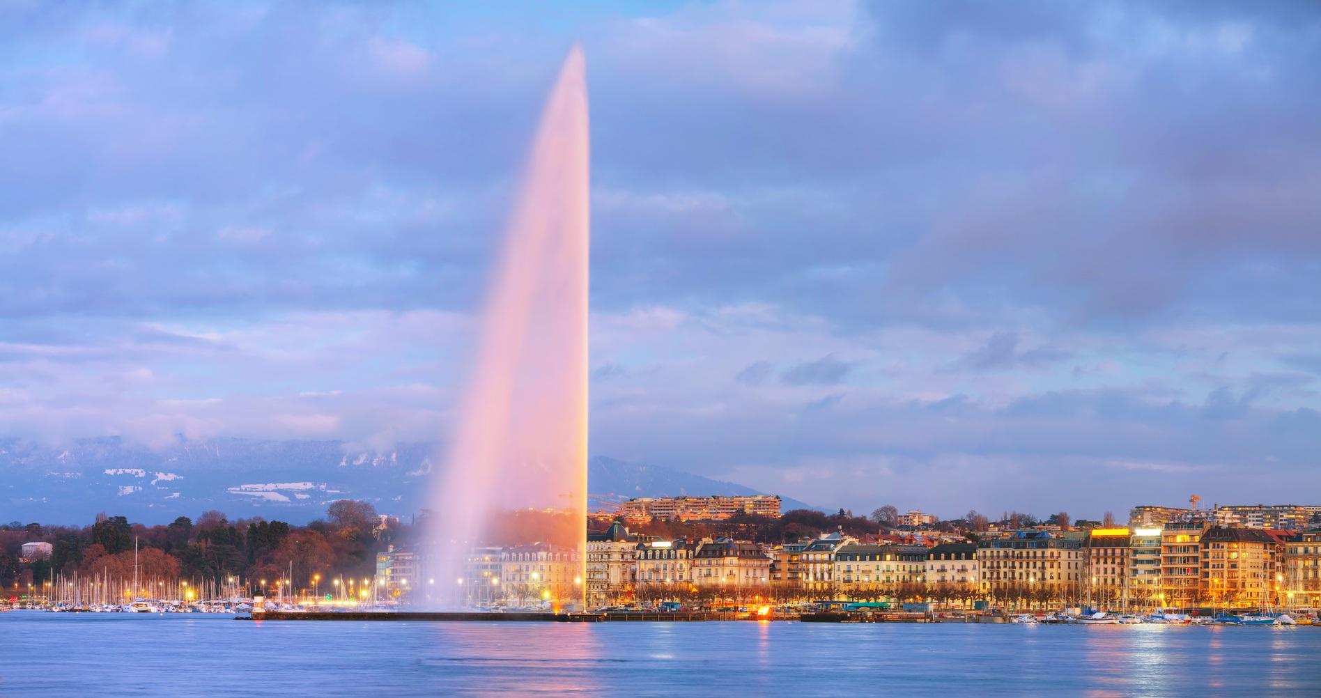 giant water fountain