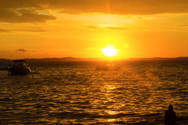 Pôr do sol em Salvador