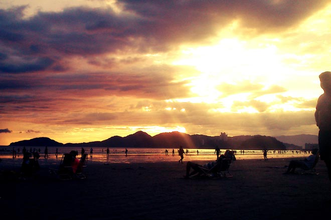 sol praia santos