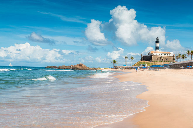 Vista da Praia do Forte na  Bahia